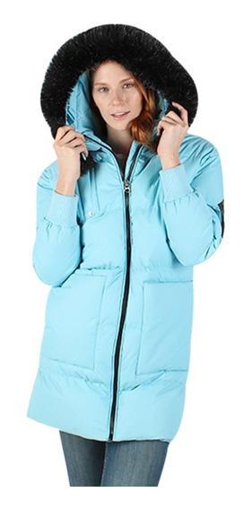 Chamarra Mujer Greenlander Pol7031 Invierno Peluche