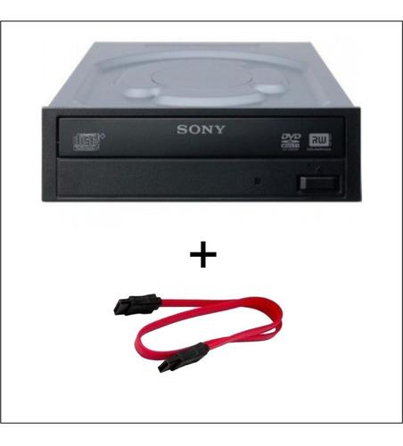 Imagem 1 de 4 de Drive Gravador De Cd/dvd E Leitor De Cd/dvd Sony + Sata