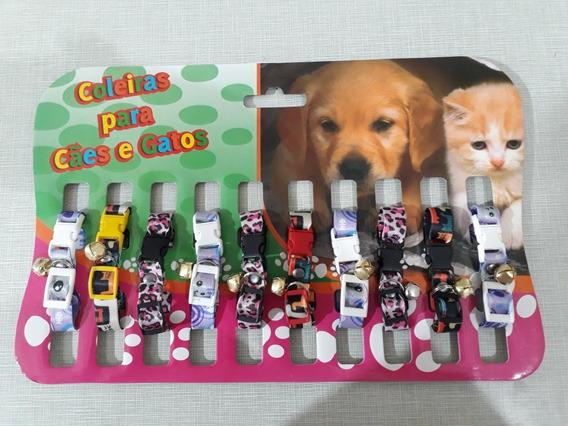 Coleira Elastica Para Gatos Com Guizo Cartela Com 10 Coleira