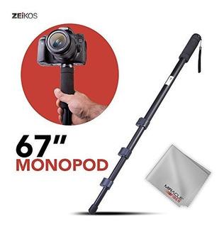 Paquete De Monopie Zeikos De 67 Pulgadas Para Canon, Nikon,
