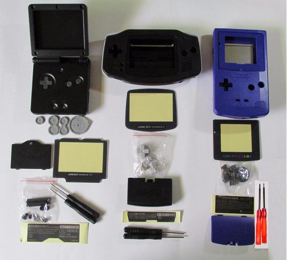 Carcaça Game Boy Color / Advance / Sp Nova + Chaves X E Y