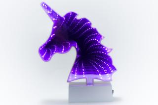 Lámpara Espejo Infinito Luz Led Unicornio Cuadro Decoración