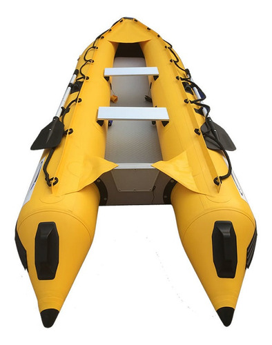 Kayak/gomon Inflable Reforz 3,70 Espejo En Popa Hasta 5hp