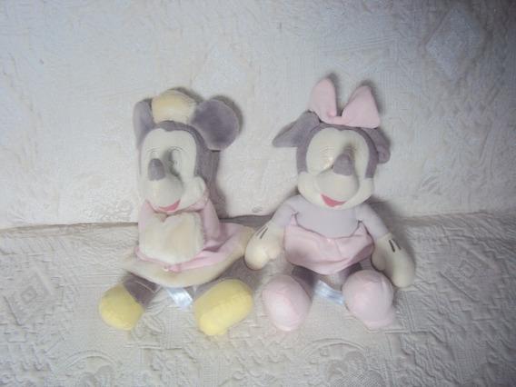 Kit 2 Pelúcia Minnie Disney Tamanho 28 Cm