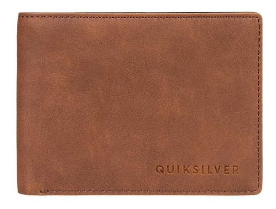 Quiksilver Billetera Hombre Slim Vintage Ill Marron