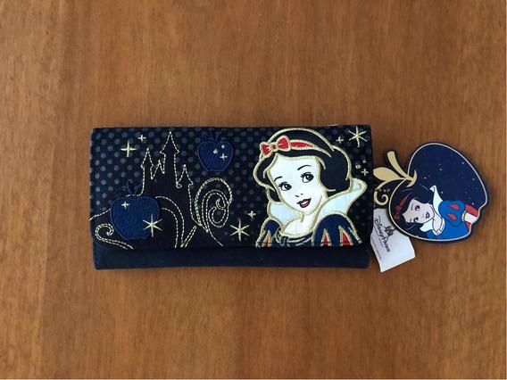 Billetera Disney Blanca Nieves Bordada Nueva Con Etiqueta