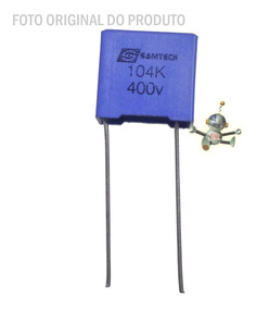 Kit 10 Capacitores Samtech Tmcf32 104k 400v P10b 10mm