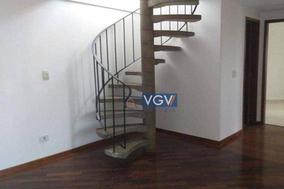 Cobertura Com 3 Dormitórios À Venda, 147 M² Por R$ 645.000,00 - Vila Matias - Santos/sp - Co0066