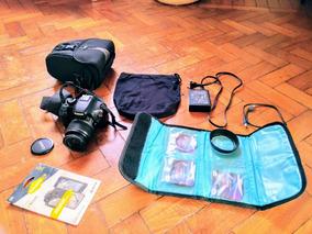 Câmera Canon T2i (550d) Ótimo Estado Com Vários Acessórios