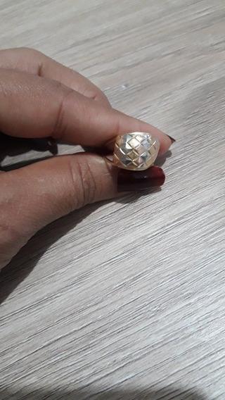 Anel Ouro 18k 3 Tons De Ouro
