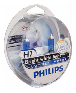Lamparas Philips Crystal Vision H7 Efecto Xenon 4300k