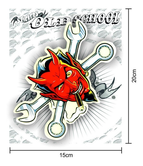 Sticker Calco Old School (grande/big) - B23 - Gtkk