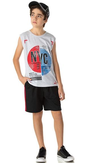 Roupa Infantil Juvenil Conjunto Camiseta Machão E Bermuda