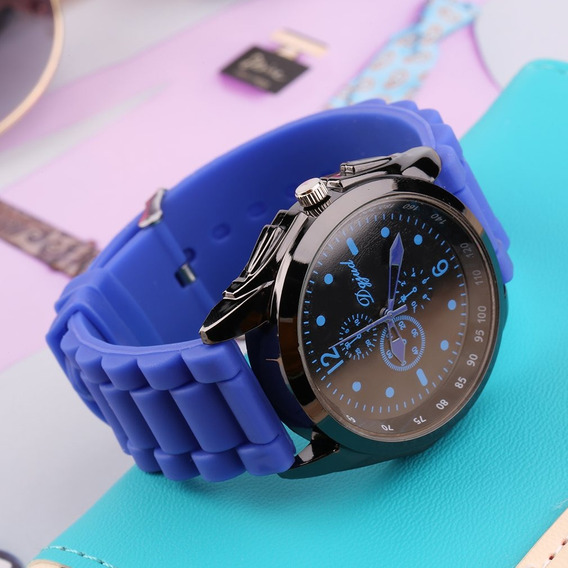 Multicolorido Unisex Moda Silicone Relógio Cinta Relógio Q