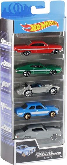 Carritos Hotwheel Pack De 5 Hotwheels Original Mattel
