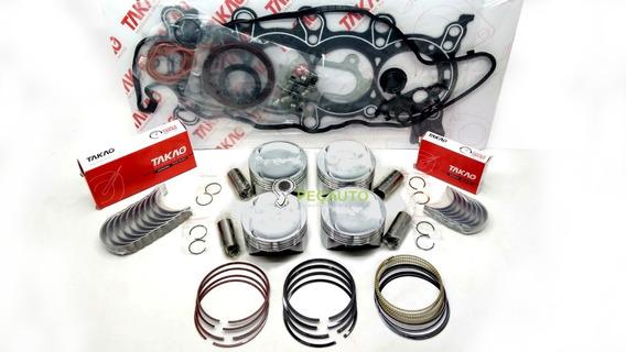 Kit Motor Pistao Anel Bronzina Juntas 2.0 16v Gasolina Crv