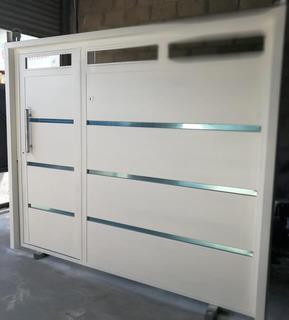 Portón Levadizo C/puerta, Ventiluz Automático 250x207
