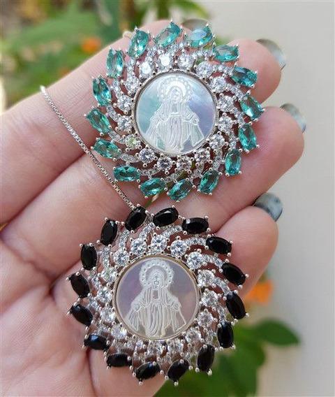 Colar Cristais Madre Pérola Nossa Senhora Das Graças 3832