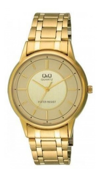 Relógio Dourado Q&q By Citizen Q620-010y