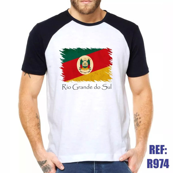 Camisa Raglan Rio Grande Do Sul Bandeira Estado Estilo Swa C