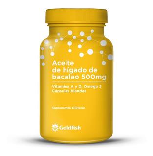 Aceite Higado Bacalao Omega3 Vit A D Goldfish 30 Cap Blandas