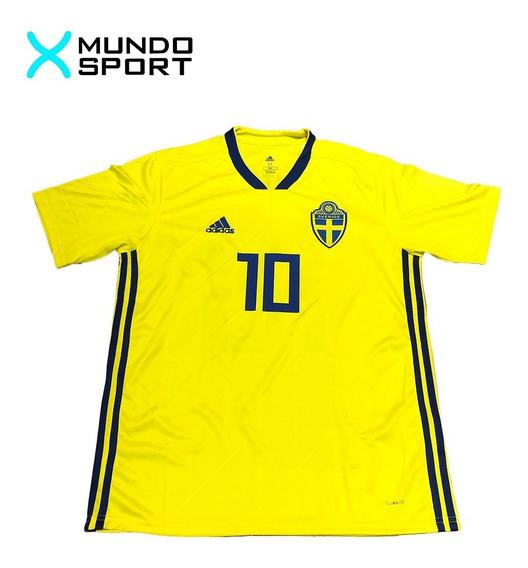 Camiseta Suecia adidas Mundial 2018 Talle M 10 Ibrahimovic