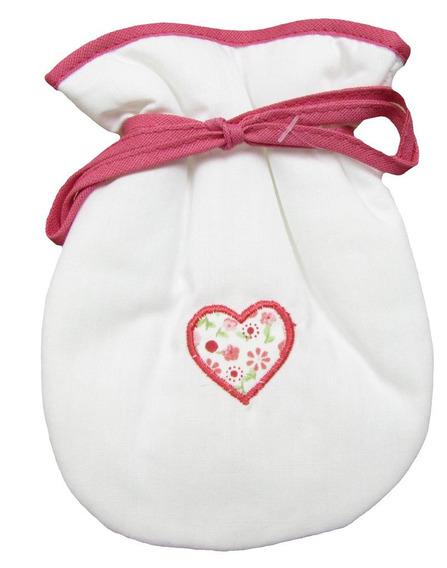 Porta Chupeta (branco/coração, Único)