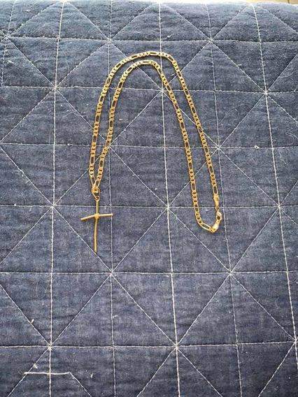 Cordão De Ouro 30 Cm, Com Pingente Como Cruz