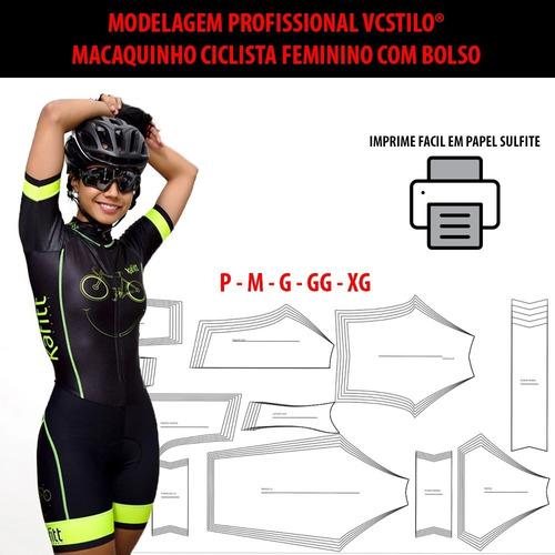 Molde Macaquinho Ciclismo Fem P Ao Xg Corel E Pdf Por Email