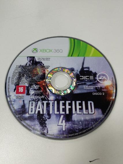Battlefield 4 Somente Disco 2 Xbox 360 Original Defeito
