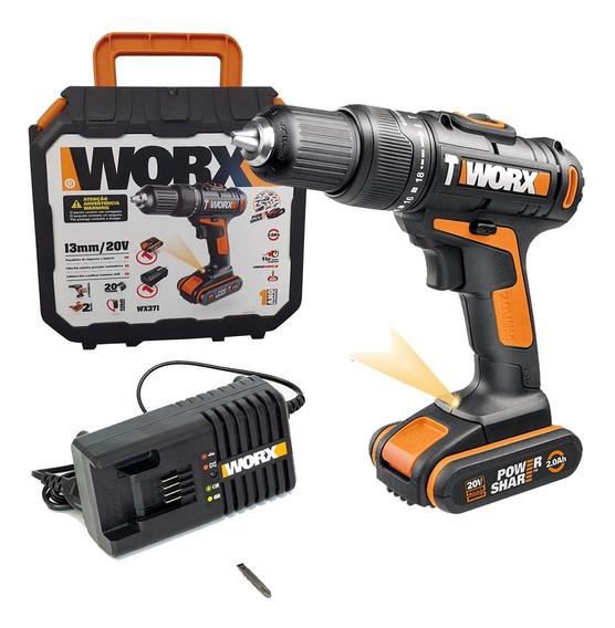 Taladro Percutor Worx Wx371 Bateria Cargador Maletin Cuotas