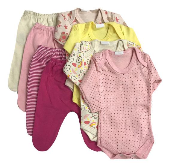 Kit Roupa Bebê Prematuro Menina - 8 Pcs Bebe Reborn + Brinde