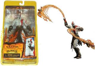 Kratos Neca With Flaming Blades Of Athena