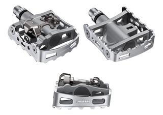 Pedales Mtb Shimano M324 Spd C/ Calas Y Traba 1 Lado - Ciclos