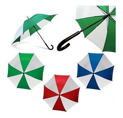 Paraguas Blanco Con Rojo