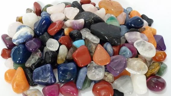 500g Pedra Rolada Sortida Mista Natural Artesanato