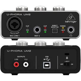 Interface De Áudio Usb U-phoria Um2 Behringer De 24-bit/48 K