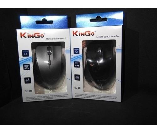 Mouse Óptico Sem Fio Kingo S330