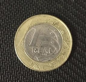 Frete Grátis Moeda 1 Real Mbc 1998 Rara