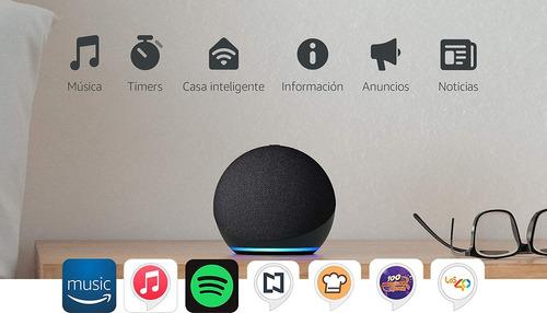Echo Dot 4 Generación Negra Asistente Inteligente Virtual