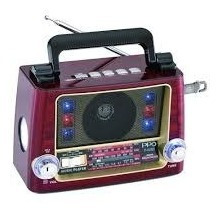 Rádio Portátil Retrô Vicini Vc-282 Bluetooth Com Am/fm/sw. E