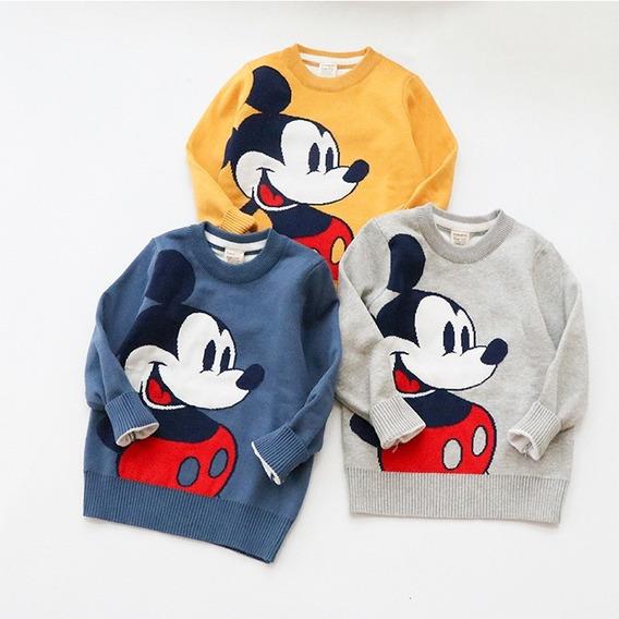 Sueter De Mickey Mouse Infantil, Suéter De Bebe Niño
