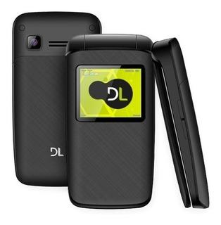 Celular Dl Yc330 Flip Dual Chip Rádio Fm Mp3 Preto Lacrado