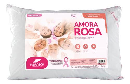 Travesseiro De Espuma Amora Rosa 50x70x20 Fibrasca