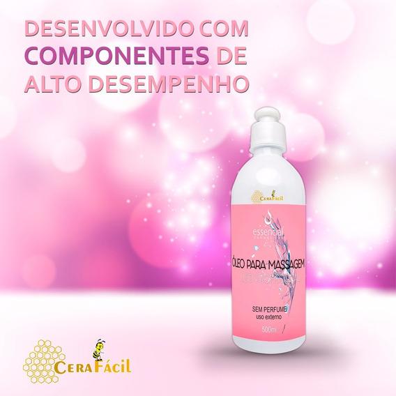 Oleo Neutro Para Massagem Corporal 500 Ml Essencial 3un