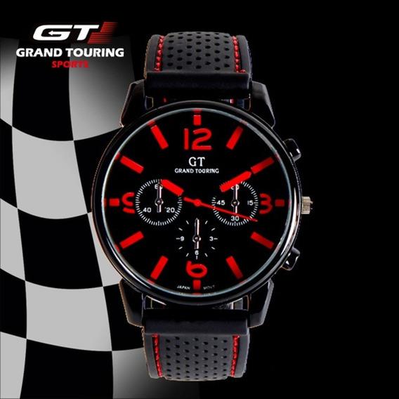 Relogio Masculino Barato Gt Sport F1 Pulseira De Silicone