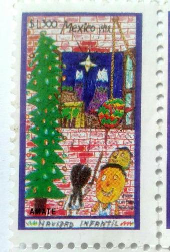 Imagen 1 de 3 de Timbre Postal México Navidad Infantil 1992