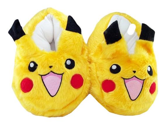 Pantuflas Pokemon Pikachu Anime Cosplay Unisex Acolchonadas