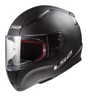 Casco Moto Integral Ls2 Ff 353 Rapid Solid Negro Mate