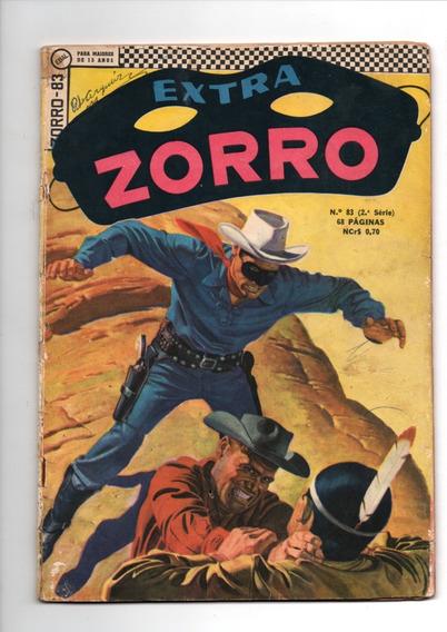 Zorro Extra Nº 83 - Ebal-1968 - Muito Bom Estado # Katram